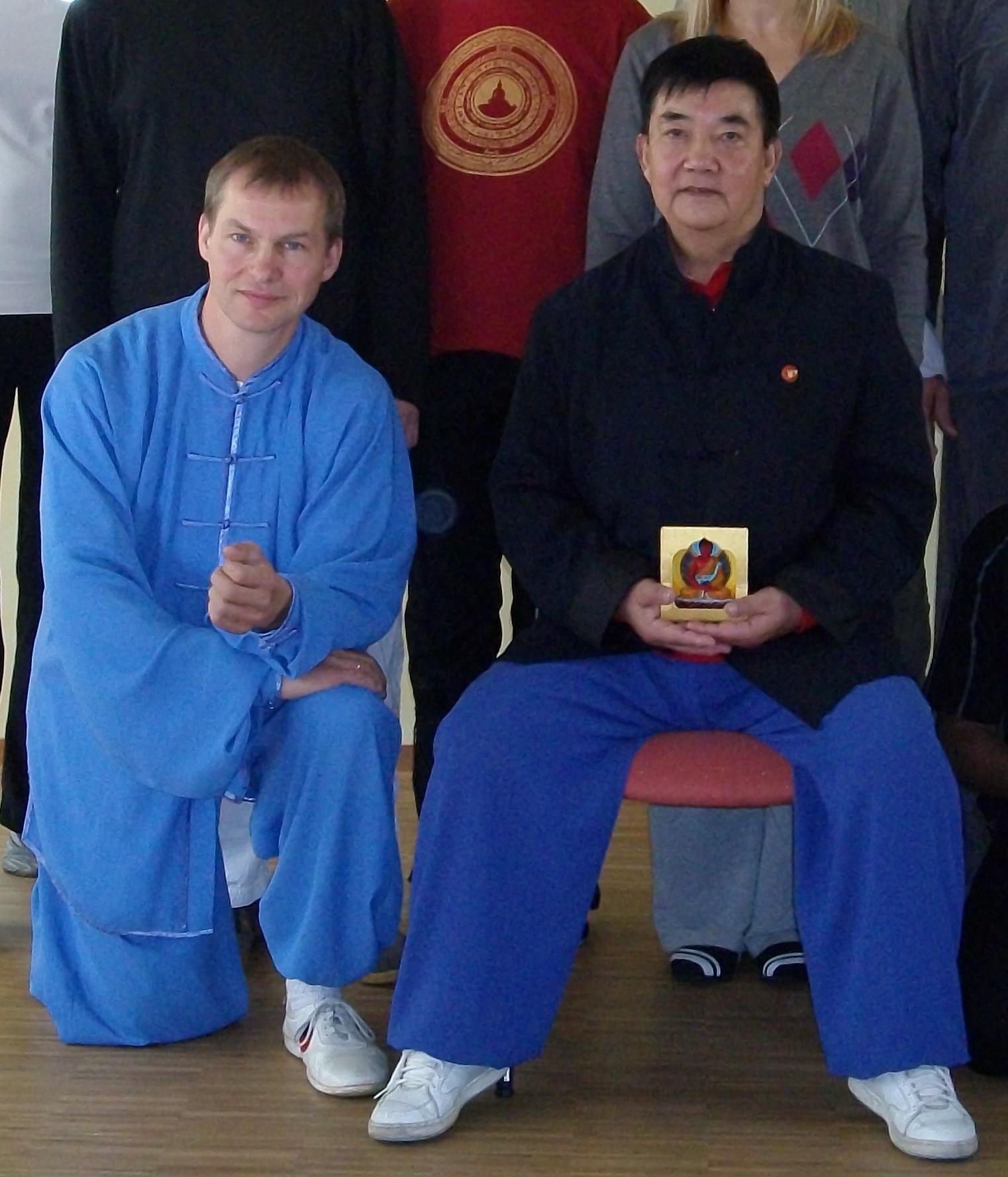 Meister mit Schüler in der Traditionslinie des Yang Stil
